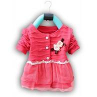 Puošni, rožinė suknelė mergaitei