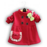 Paltukas mergaitei raudonas