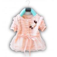 Puošni rožinė (rausva) suknelė mergaitei